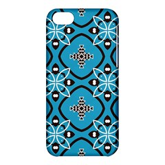 Ornamental Flowers Pattern                                                        			apple Iphone 5c Hardshell Case by LalyLauraFLM