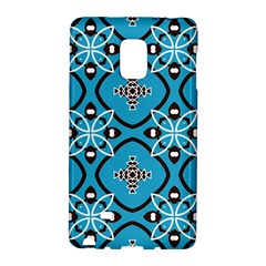 Ornamental Flowers Pattern                                                        			samsung Galaxy Note Edge Hardshell Case by LalyLauraFLM
