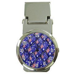 Australian Flag Urban Grunge Pattern Money Clip Watches