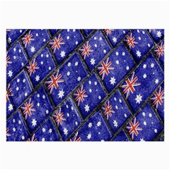Australian Flag Urban Grunge Pattern Large Glasses Cloth by dflcprints
