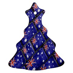 Australian Flag Urban Grunge Pattern Christmas Tree Ornament (two Sides) by dflcprints