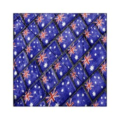 Australian Flag Urban Grunge Pattern Acrylic Tangram Puzzle (6  X 6 ) by dflcprints