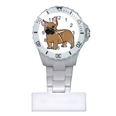 French Bulldog Tan Cartoon Plastic Nurses Watch by TailWags
