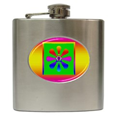 Flower Mosaic Hip Flask (6 Oz) by pepitasart