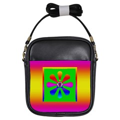 Flower Mosaic Girls Sling Bags by pepitasart
