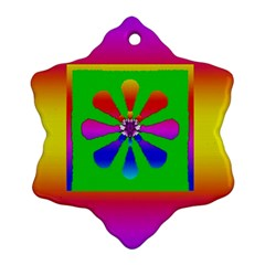 Flower Mosaic Snowflake Ornament (two Sides) by pepitasart