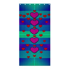 Hearts Weave Shower Curtain 36  X 72  (stall)  by pepitasart