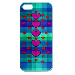 Hearts Weave Apple Seamless Iphone 5 Case (color) by pepitasart