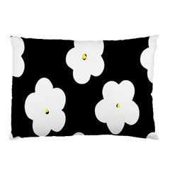April Fun Pop Floral Flower Black White Yellow Rose Pillow Case by Jojostore