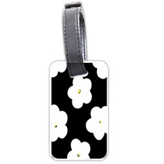 April Fun Pop Floral Flower Black White Yellow Rose Luggage Tags (two Sides) by Jojostore