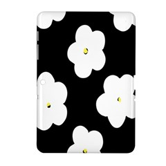 April Fun Pop Floral Flower Black White Yellow Rose Samsung Galaxy Tab 2 (10 1 ) P5100 Hardshell Case  by Jojostore
