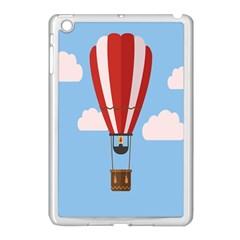 Air Ballon Blue Sky Cloud Apple Ipad Mini Case (white) by Jojostore