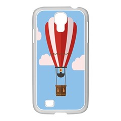 Air Ballon Blue Sky Cloud Samsung Galaxy S4 I9500/ I9505 Case (white) by Jojostore