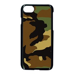 Army Camouflage Apple Iphone 7 Seamless Case (black) by Jojostore
