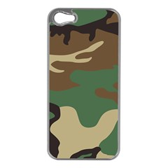 Army Shirt Green Brown Grey Black Apple Iphone 5 Case (silver) by Jojostore