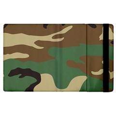 Army Shirt Green Brown Grey Black Apple Ipad 3/4 Flip Case by Jojostore