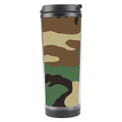 Army Shirt Green Brown Grey Black Travel Tumbler by Jojostore