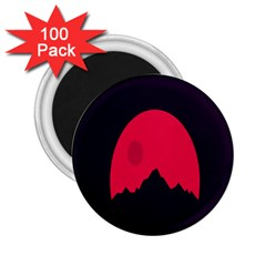 Awesome Photos Collection Minimalist Moon Night Red Sun 2 25  Magnets (100 Pack)  by Jojostore