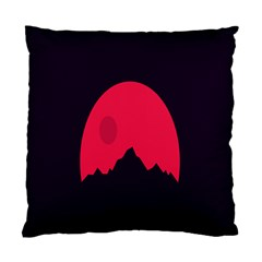Awesome Photos Collection Minimalist Moon Night Red Sun Standard Cushion Case (two Sides) by Jojostore