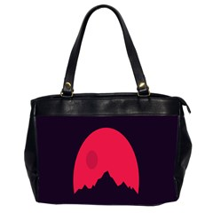 Awesome Photos Collection Minimalist Moon Night Red Sun Office Handbags (2 Sides)  by Jojostore