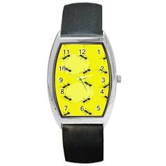 Ant Yellow Circle Barrel Style Metal Watch by Jojostore