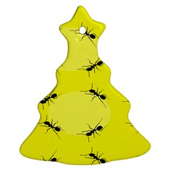Ant Yellow Circle Christmas Tree Ornament (two Sides) by Jojostore