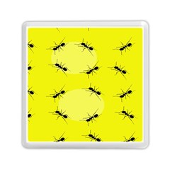 Ant Yellow Circle Memory Card Reader (square)  by Jojostore