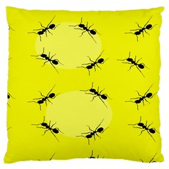 Ant Yellow Circle Large Cushion Case (one Side) by Jojostore