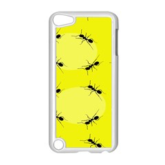 Ant Yellow Circle Apple Ipod Touch 5 Case (white) by Jojostore