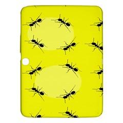 Ant Yellow Circle Samsung Galaxy Tab 3 (10 1 ) P5200 Hardshell Case  by Jojostore
