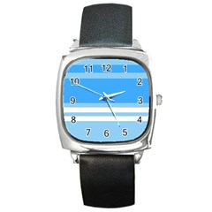 Blue Horizon Graphic Simplified Version Square Metal Watch by Jojostore