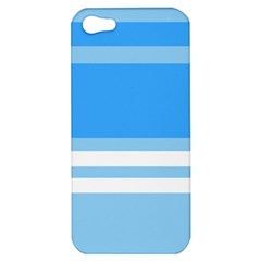 Blue Horizon Graphic Simplified Version Apple Iphone 5 Hardshell Case by Jojostore