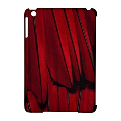 Black Red Flower Bird Feathers Animals Apple Ipad Mini Hardshell Case (compatible With Smart Cover) by Jojostore