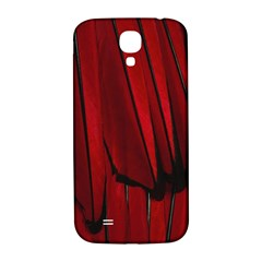 Black Red Flower Bird Feathers Animals Samsung Galaxy S4 I9500/i9505  Hardshell Back Case by Jojostore