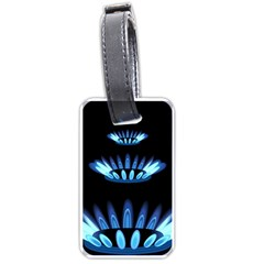 Blue Flame Luggage Tags (two Sides) by Jojostore