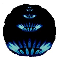 Blue Flame Large 18  Premium Flano Round Cushions by Jojostore