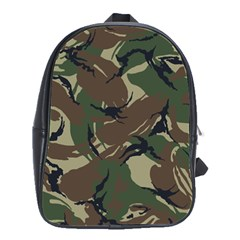 Army Shirt Grey Green Blue School Bags(large)  by Jojostore