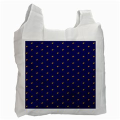 Blue Yellow Sign Recycle Bag (one Side) by Jojostore