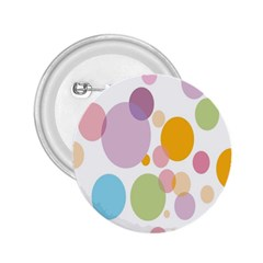 Bubble Water Yellow Blue Green Orange Pink Circle 2 25  Buttons