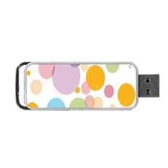 Bubble Water Yellow Blue Green Orange Pink Circle Portable Usb Flash (one Side) by Jojostore