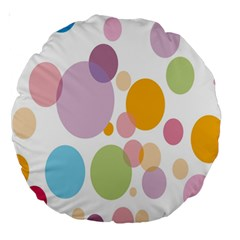 Bubble Water Yellow Blue Green Orange Pink Circle Large 18  Premium Round Cushions by Jojostore