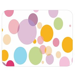 Bubble Water Yellow Blue Green Orange Pink Circle Double Sided Flano Blanket (medium)  by Jojostore