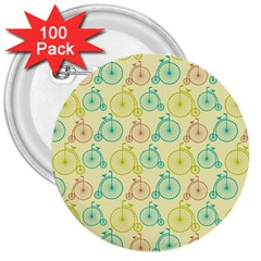 Wheel Bike Round Sport Color Yellow Blue Green Red Pink 3  Buttons (100 Pack)  by Jojostore