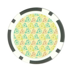 Wheel Bike Round Sport Color Yellow Blue Green Red Pink Poker Chip Card Guard (10 Pack) by Jojostore