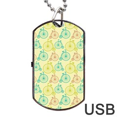 Wheel Bike Round Sport Color Yellow Blue Green Red Pink Dog Tag Usb Flash (two Sides) by Jojostore