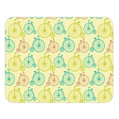 Wheel Bike Round Sport Color Yellow Blue Green Red Pink Double Sided Flano Blanket (large)  by Jojostore