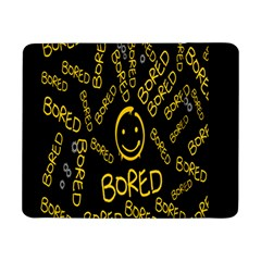 Bored Face Smile Sign Yellow Black Mask Samsung Galaxy Tab Pro 8 4  Flip Case by Jojostore