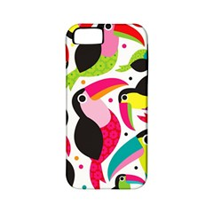 Colorful Toucan Retro Kids Pattern Bird Animals Rainbow Purple Flower Apple Iphone 5 Classic Hardshell Case (pc+silicone) by Jojostore