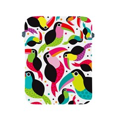 Colorful Toucan Retro Kids Pattern Bird Animals Rainbow Purple Flower Apple Ipad 2/3/4 Protective Soft Cases by Jojostore