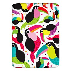 Colorful Toucan Retro Kids Pattern Bird Animals Rainbow Purple Flower Samsung Galaxy Tab 3 (10 1 ) P5200 Hardshell Case  by Jojostore